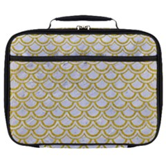 SCALES2 WHITE MARBLE & YELLOW DENIM (R) Full Print Lunch Bag