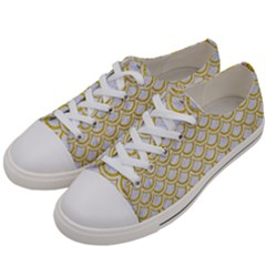 SCALES2 WHITE MARBLE & YELLOW DENIM (R) Women s Low Top Canvas Sneakers