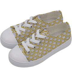 SCALES2 WHITE MARBLE & YELLOW DENIM (R) Kids  Low Top Canvas Sneakers