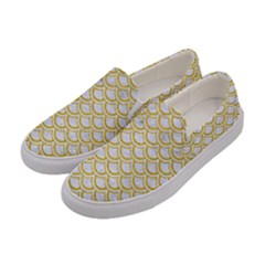 SCALES2 WHITE MARBLE & YELLOW DENIM (R) Women s Canvas Slip Ons