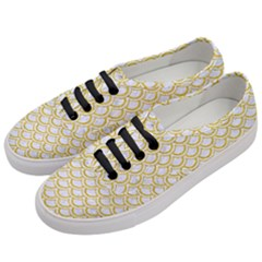SCALES2 WHITE MARBLE & YELLOW DENIM (R) Women s Classic Low Top Sneakers
