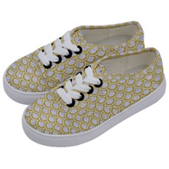 SCALES2 WHITE MARBLE & YELLOW DENIM (R) Kids  Classic Low Top Sneakers