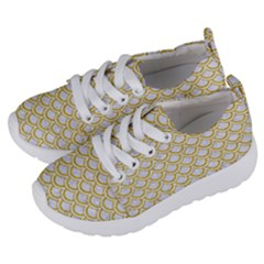 SCALES2 WHITE MARBLE & YELLOW DENIM (R) Kids  Lightweight Sports Shoes