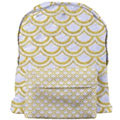 SCALES2 WHITE MARBLE & YELLOW DENIM (R) Giant Full Print Backpack