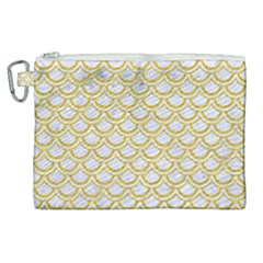 SCALES2 WHITE MARBLE & YELLOW DENIM (R) Canvas Cosmetic Bag (XL)