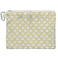 SCALES2 WHITE MARBLE & YELLOW DENIM (R) Canvas Cosmetic Bag (XXL)