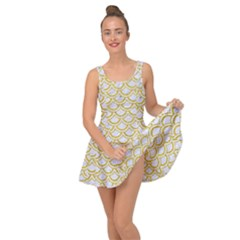 SCALES2 WHITE MARBLE & YELLOW DENIM (R) Inside Out Dress