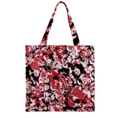 Textured Floral Collage Grocery Tote Bag by dflcprints