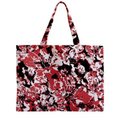 Textured Floral Collage Medium Tote Bag by dflcprints