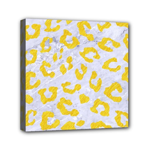 Skin5 White Marble & Yellow Colored Pencil Canvas Travel Bag by trendistuff