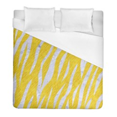 Skin3 White Marble & Yellow Colored Pencil Duvet Cover (full/ Double Size) by trendistuff