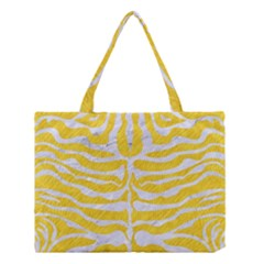 Skin2 White Marble & Yellow Colored Pencil Medium Tote Bag by trendistuff
