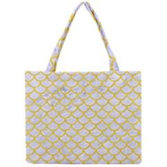 Scales1 White Marble & Yellow Colored Pencil (r) Mini Tote Bag