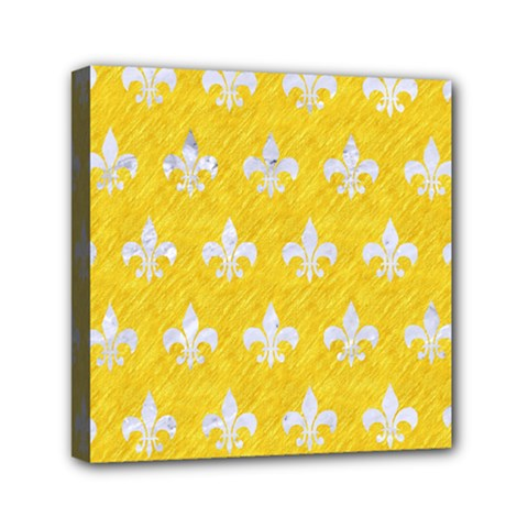 Royal1 White Marble & Yellow Colored Pencil (r) Canvas Travel Bag by trendistuff