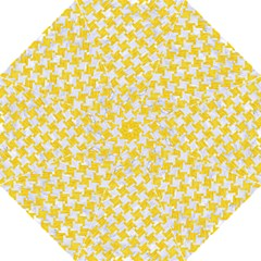 Houndstooth2 White Marble & Yellow Colored Pencil Folding Umbrellas by trendistuff