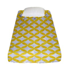 Circles3 White Marble & Yellow Colored Pencil (r) Fitted Sheet (single Size) by trendistuff