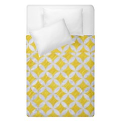 Circles3 White Marble & Yellow Colored Pencil Duvet Cover Double Side (single Size) by trendistuff