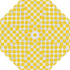 Circles2 White Marble & Yellow Colored Pencil (r) Straight Umbrellas by trendistuff