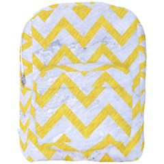Chevron9 White Marble & Yellow Colored Pencil (r) Full Print Backpack