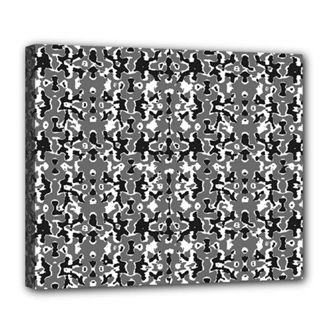 Dark Camo Style Design Deluxe Canvas 24  X 20   by dflcprints
