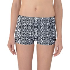 Dark Camo Style Design Reversible Boyleg Bikini Bottoms by dflcprints