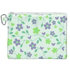 Green Vintage Flowers Canvas Cosmetic Bag (xxl) by vintage2030