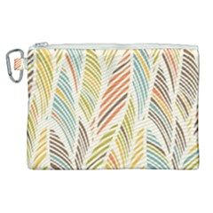 Decorative  Seamless Pattern Canvas Cosmetic Bag (xl) by TastefulDesigns