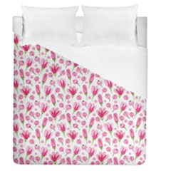 Watercolor Spring Flowers Pattern Duvet Cover (queen Size) by TastefulDesigns