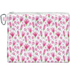 Watercolor Spring Flowers Pattern Canvas Cosmetic Bag (xxxl)