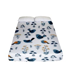 Spring Flowers And Birds Pattern Fitted Sheet (full/ Double Size)