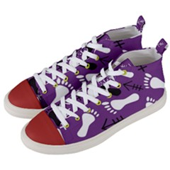 Purple Men s Mid Top Canvas Sneakers by HASHHAB