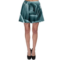 Beautiful Blue Roses With Water Drops Skater Skirt by FantasyWorld7
