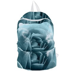 Beautiful Blue Roses With Water Drops Foldable Lightweight Backpack by FantasyWorld7