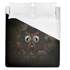 Wonderful Cute  Steampunk Owl Duvet Cover (queen Size) by FantasyWorld7