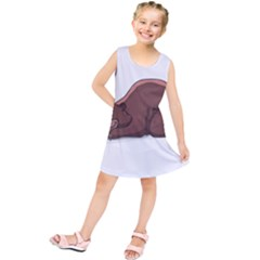 Cute Bear Sleeping Kids  Tunic Dress
