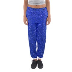 Blue Glitter Women s Jogger Sweatpants by snowwhitegirl
