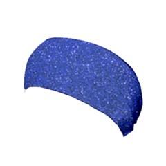 Blue Glitter Yoga Headband by snowwhitegirl