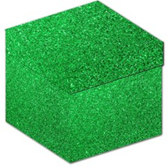 Green Glitter Storage Stool 12   by snowwhitegirl