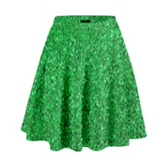 Green Glitter High Waist Skirt by snowwhitegirl