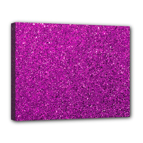Pink  Glitter Canvas 14  X 11  by snowwhitegirl