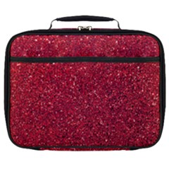 Red  Glitter Full Print Lunch Bag by snowwhitegirl