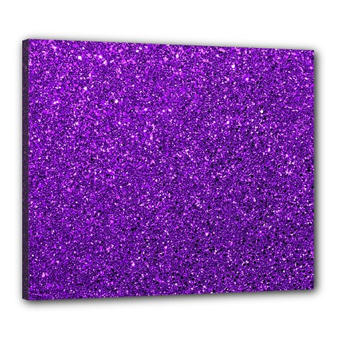 Purple  Glitter Canvas 24  X 20  by snowwhitegirl