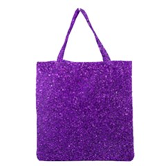 Purple  Glitter Grocery Tote Bag by snowwhitegirl