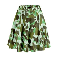 Brownish Green Camo High Waist Skirt by snowwhitegirl
