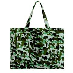 Green Camo Zipper Mini Tote Bag by snowwhitegirl