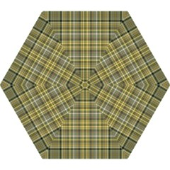 Yellow Plaid Mini Folding Umbrellas by snowwhitegirl