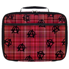 Red Plaid Anarchy Full Print Lunch Bag by snowwhitegirl