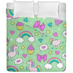 Cute Unicorn Pattern Duvet Cover Double Side (california King Size)