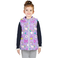 Cute Unicorn Pattern Kid s Puffer Vest