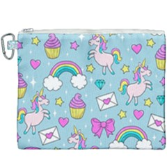 Cute Unicorn Pattern Canvas Cosmetic Bag (xxxl) by Valentinaart